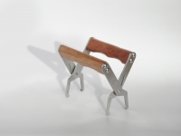 Stainless steel pliers for frames with wooden handle
