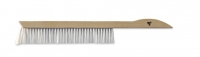 Bee brush,  economical model,  plastic handle and mixed bristle