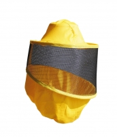 Full vision, round, aluminium screen veil for beekeeper jacket