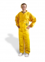 Yellow beekeeper coverall in pure cotton
