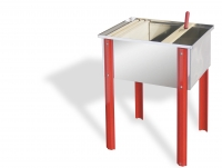 Uncapping tray, 65x48x30 cm, stainless steel