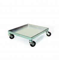 Trolley tray, 43x50 cm, with 4 wheels