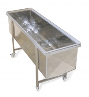Trolley barrow, with tray 1500 mm, for Langstroth uncapping machine