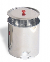 Honey ripener, capacity 30 kg, with lid and plastic honey gates
