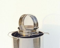 Honey strainer with double sieve, stainless steel, with extensible support