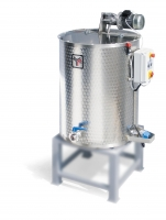 Honey blender, double walled, electric heated, 600 Kg, three-phase motor