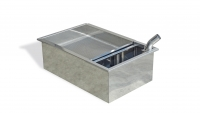 Sump tank, stainless steel, single walled, 850x560x290 mm