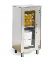 Small warming cabinet, stainless steel, 460x540x1160 mm