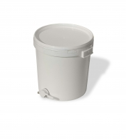 Food-grade plastic pail with honey gate, capacity 45kg
