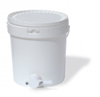 LFood-grade plastic pail, with honey gate, 25Kg capacity