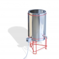 Wax melting tank, double walled, stainless steel, cap. 70L