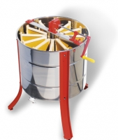 """ZANDER 12"" manual radial honey extractor, stainless steel cage, 12 Zander frames"