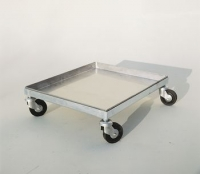 Trolley tray, 50x50 cm, with 4 wheels