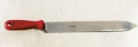 Uncapping knife 27 cm, serrated, stainless steel