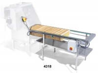 Motorised conveyor, for uncapped frames, suitable in combination with the professional uncapping machine