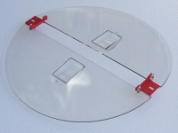 Hinged lids, for extractors diam.520mm, polycarbonate