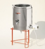 Wax melting tank, double walled, stainless steel, cap. 25L