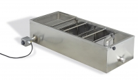 Sump tank, stainless steel, double walled, 1300x515x300 mm
