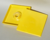 Square plastic Top Feeding Tray, 1, 5L