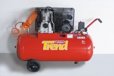 Pneumatic air compressor, tank 100 L, three-phase motor