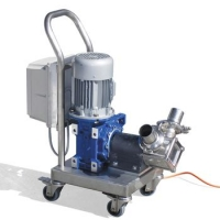 Professional honey pump with electronic speed variator