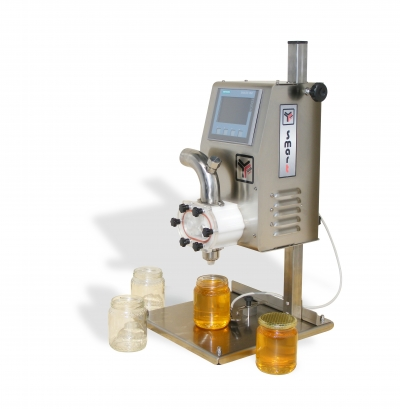 SMART electronic dosing machine with stainless steel vertical support surface