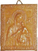 Vergin Mary icon candle mould (in relief)