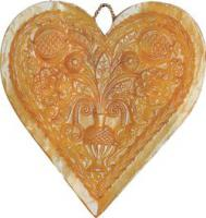 Heart candle mould (relief)