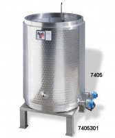 Wax sterilizer, capacity 500kg, triple walled, stainless steel