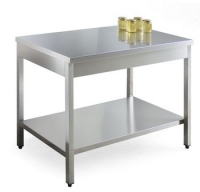 Workshop table, stainless steel, 1200x700mm, height 900mm